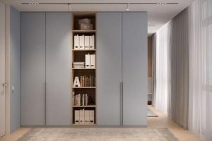 Tủ quần áo gỗ kèm kệ sách - VT4